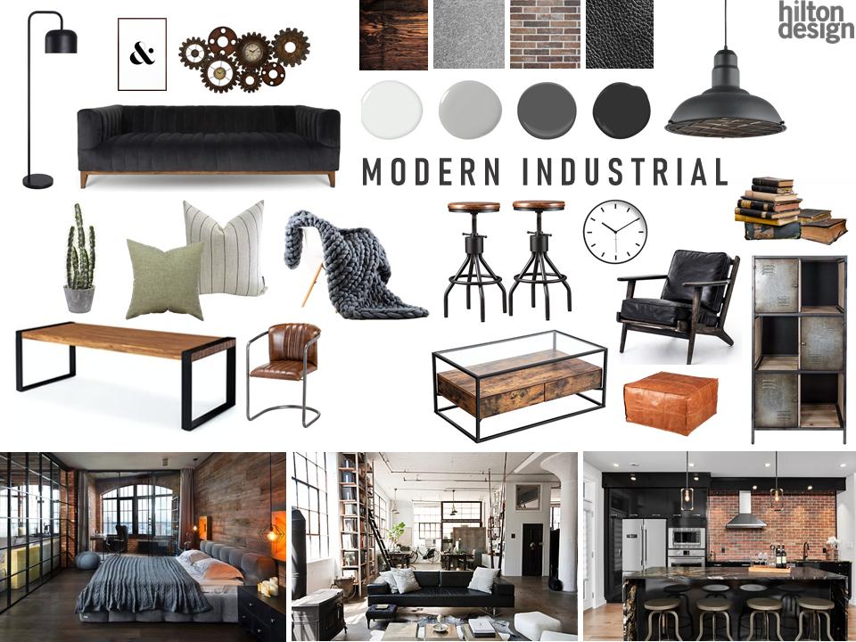April Mood Board – Modern Industrial